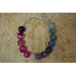 Rainbow Multi coloured Agate Bracelet